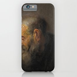 Rembrandt - Study of an Old Man in Profile (1630) iPhone Case
