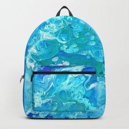 Aqua Ocean Blue Backpack