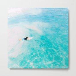 California Colors - Surfing - v6 Metal Print