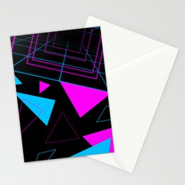 Synth Triangles Stationery Cards