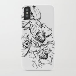 Flowers Line Drawing iPhone Case