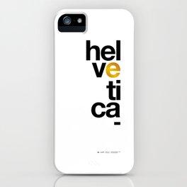 Helvetica Typoster #1 iPhone Case