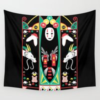 deco Wall Tapestries featuring Spirited Deco by Ashley Hay
