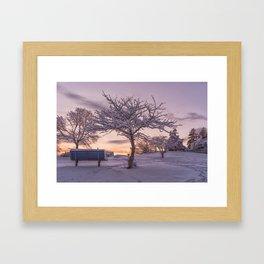 Winter Sunset #2 Framed Art Print