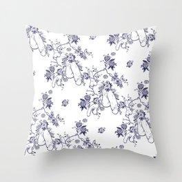 Penis Pattern Throw Pillow