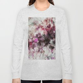Modern Abstract Painting in Purple and Pink Tones Long Sleeve T-shirt