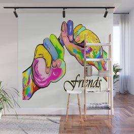ASL Friend Bright Colors Wall Mural