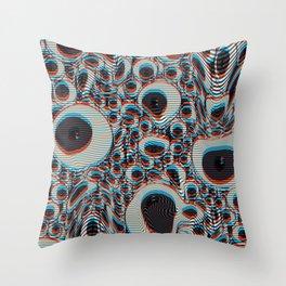 Trippy Eyes on loop Throw Pillow