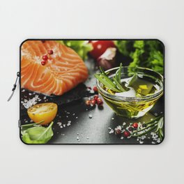 Delicious  portion of fresh salmon fillet Laptop Sleeve