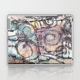Sketchy Multicolor Swirls Laptop & iPad Skin