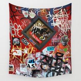 New York City Door Graffiti Wall Tapestry