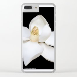 """HOME DECOR,""""Wake Up and Smell the Lilies"""",Black,White,Pillows,Wall Tapestries,ART prints,Wall Art Clear iPhone Case"""