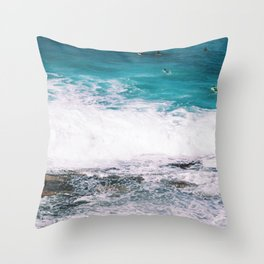 Waiting On the Wave Throw Pillow