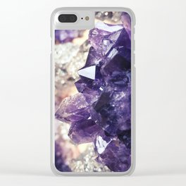 Crystal gemstone - ultra violet Clear iPhone Case