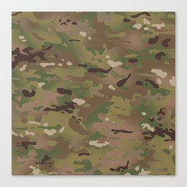 Military Woodland Camouflage Pattern Canvas Print