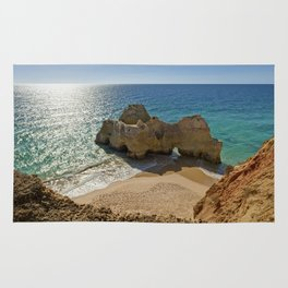 Praia da Rocha rock formation, Portugal Rug