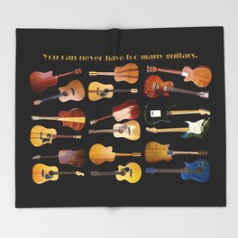 Guitars Galore Throw Blanket