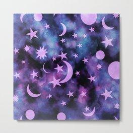 Starry Sky Moon Cosmos Dream #1 #decor #art #society6 Metal Print