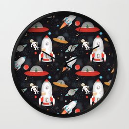Spaceships Wall Clock