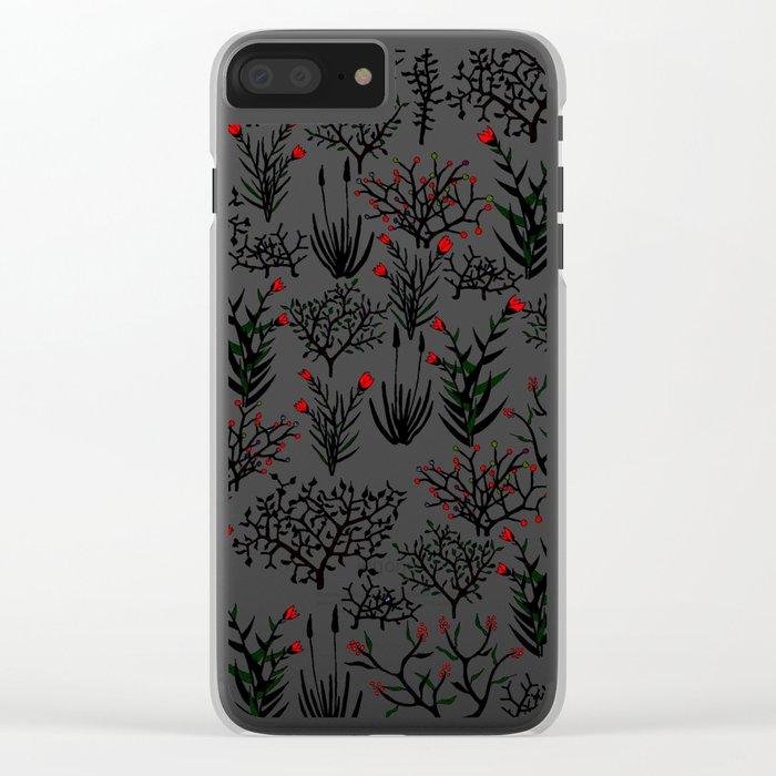 Black Nature Clear iPhone Case