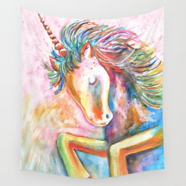 Rainbow Unicorn Wall Tapestry