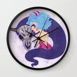 Girl and Skull friend Wall Clock