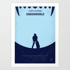 No122 My UNDERWORLD minimal movie Art Print