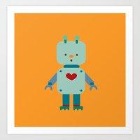 robot Art Prints featuring Robot by Milanesa