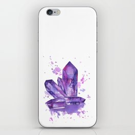 Purple Crystals iPhone Skin