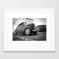 mini cooper Framed Art Prints featuring Mini cooper  by Aaron Joslin Photography