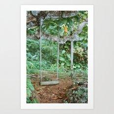 post tropical Art Print