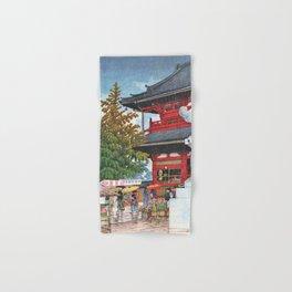 Kawase Hasui - Asakusa Morning Rain - Digital Remastered Edition Hand & Bath Towel