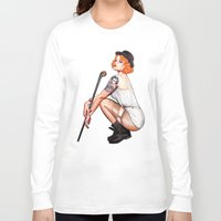 clockwork Long Sleeve T-shirts featuring Clockwork Cutie by Leka