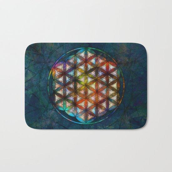 The Flower of Life Symbol Bath Mat