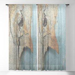 Eucalyptus tree bark texture 10 Sheer Curtain
