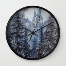 Snow Starlight Wall Clock