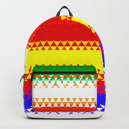 Rainbow Colored Geometric Pattern Backpack