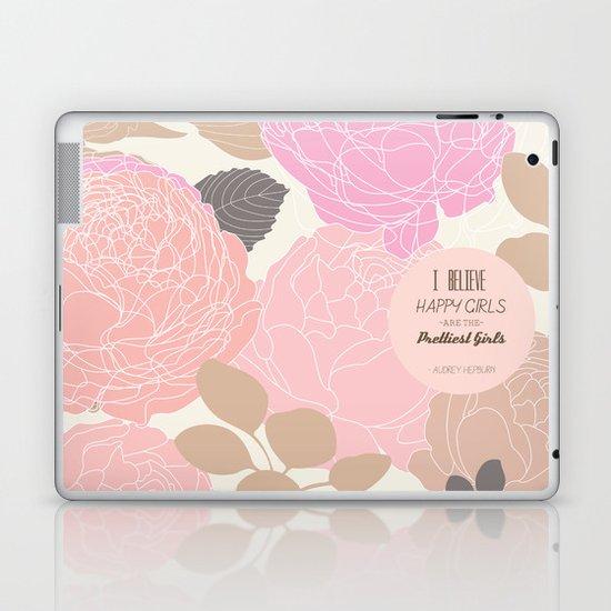 Pretty Girls Happy Girls Laptop & iPad Skin