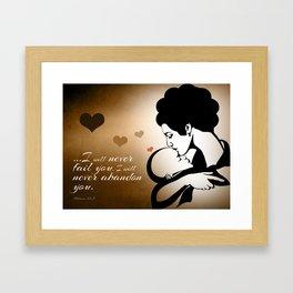 A Mother's Love Framed Art Print