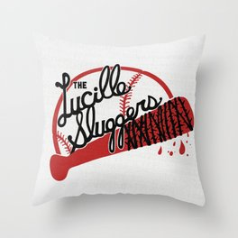 THE LUCILLE SLUGGERS Throw Pillow
