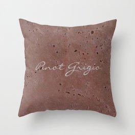 Pinot Grigio Wine Red Travertine - Rustic - Rustic Glam - Hygge Throw Pillow