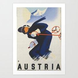 Austria Ski Art Print