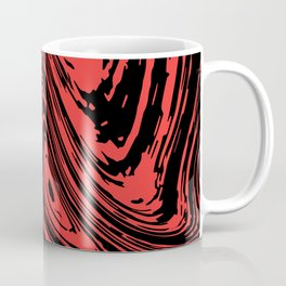 Red and black marble pattern Coffee Mug