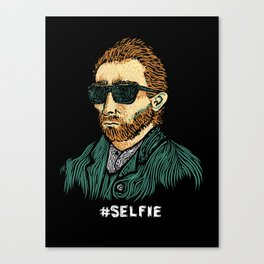 Van Gogh: Master of the #Selfie Canvas Print