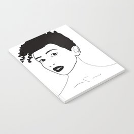 Simply black lady Notebook