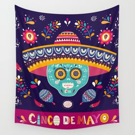 Cinco de Mayo – Square Wall Tapestry