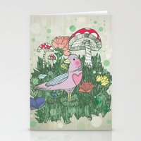 woodland Stationery Cards featuring Woodland by Jo Cheung Illustration