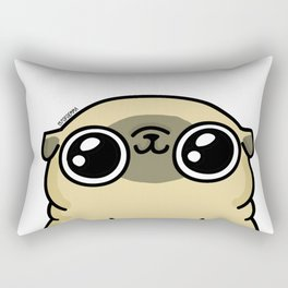 Mochi the pug loves you Rectangular Pillow