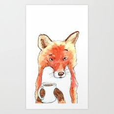 Skeptical Fox Art Print