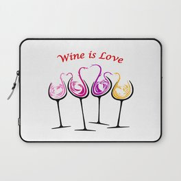 Wine is Love - Style 8 Laptop Sleeve